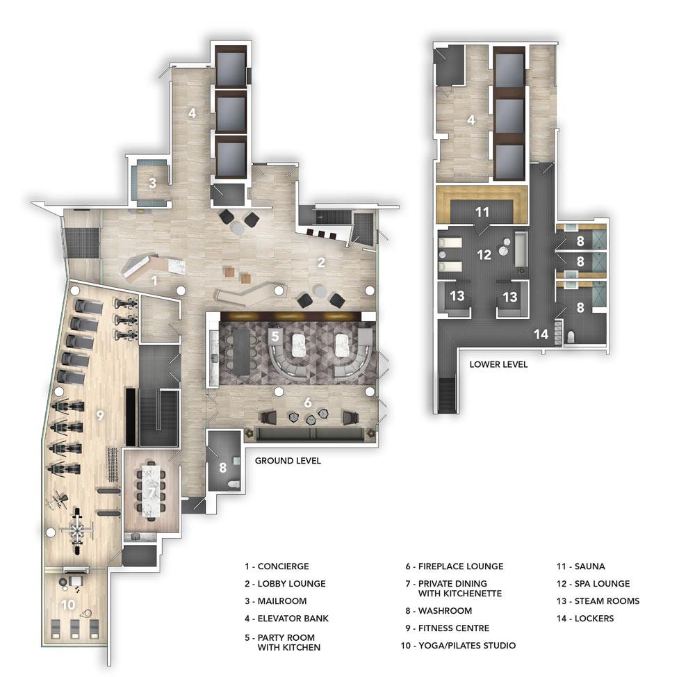 SQ2 Amenity plans
