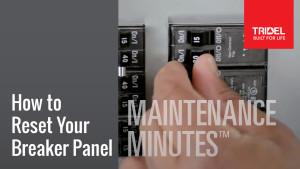 Maintenance Minute - Breaker Panel Image
