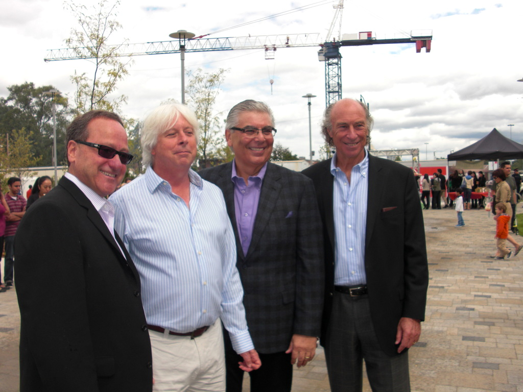 The speakers at the Avonshire park party -