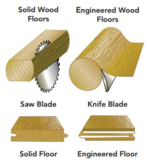Difference Between Hardwood And Laminate wood flooring - tridel