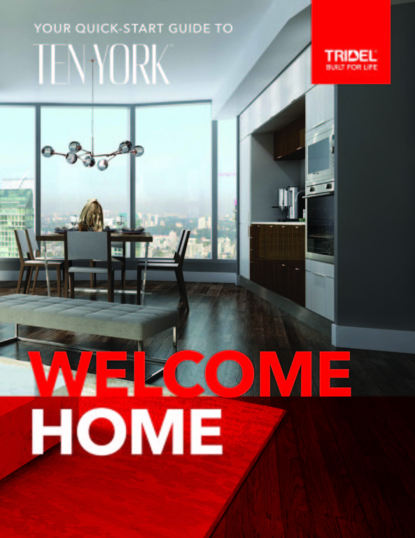 Ten York Welcome Home Quick Start Guide