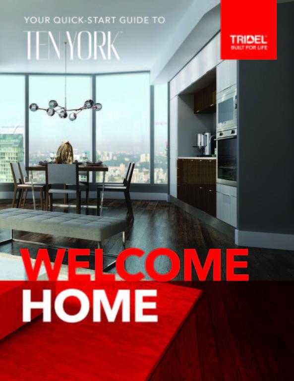 Ten York Welcome Home Quick Start Guide