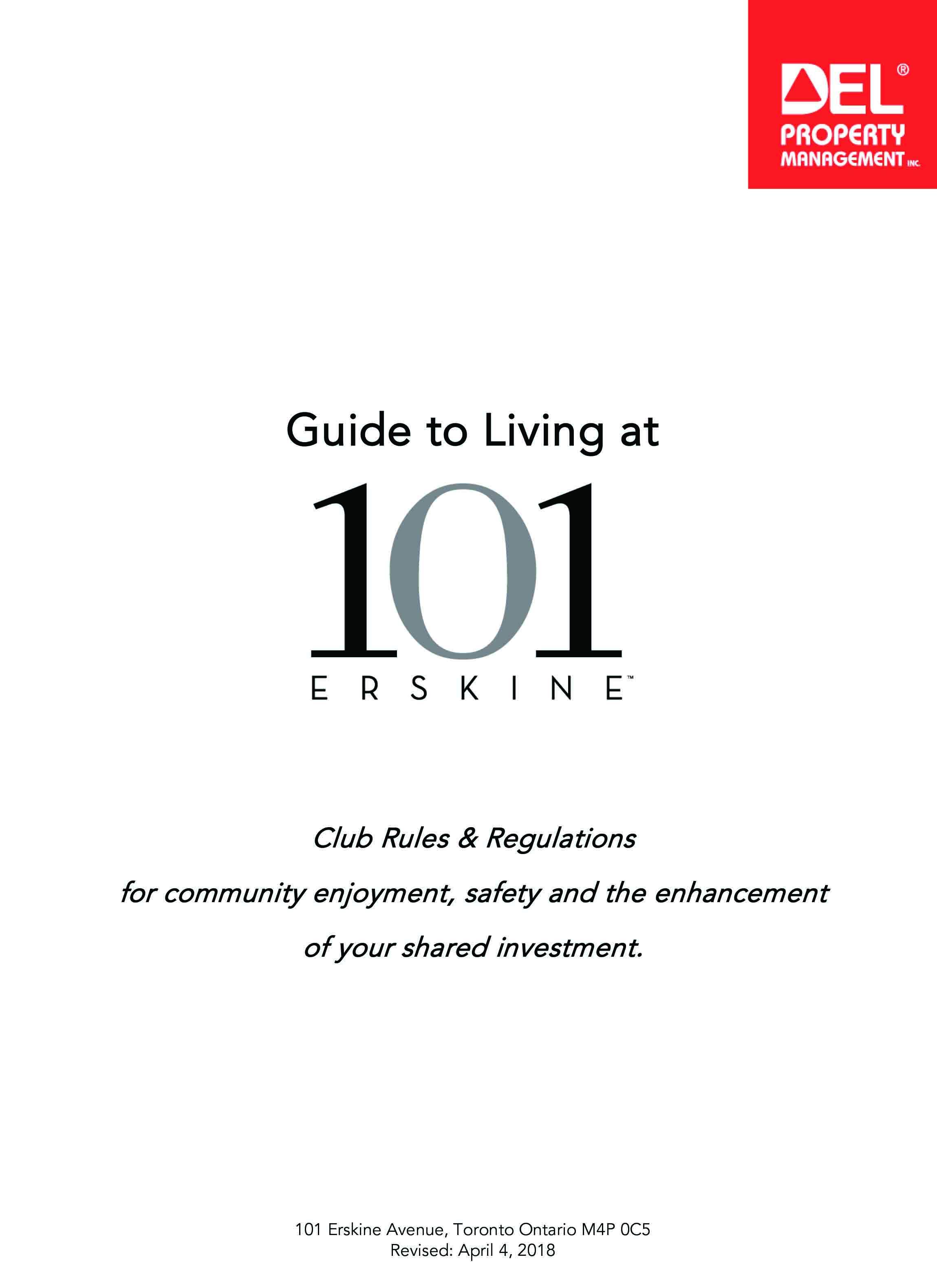 101 Erskine Club & House Rules