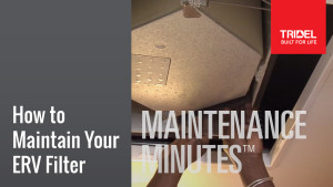 Maintenance Minute - ERV Filter