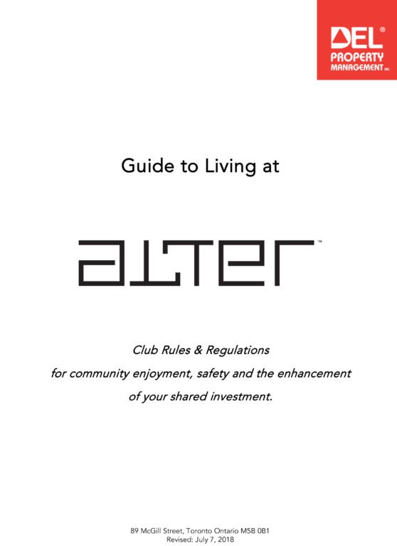 Alter Club & House Rules