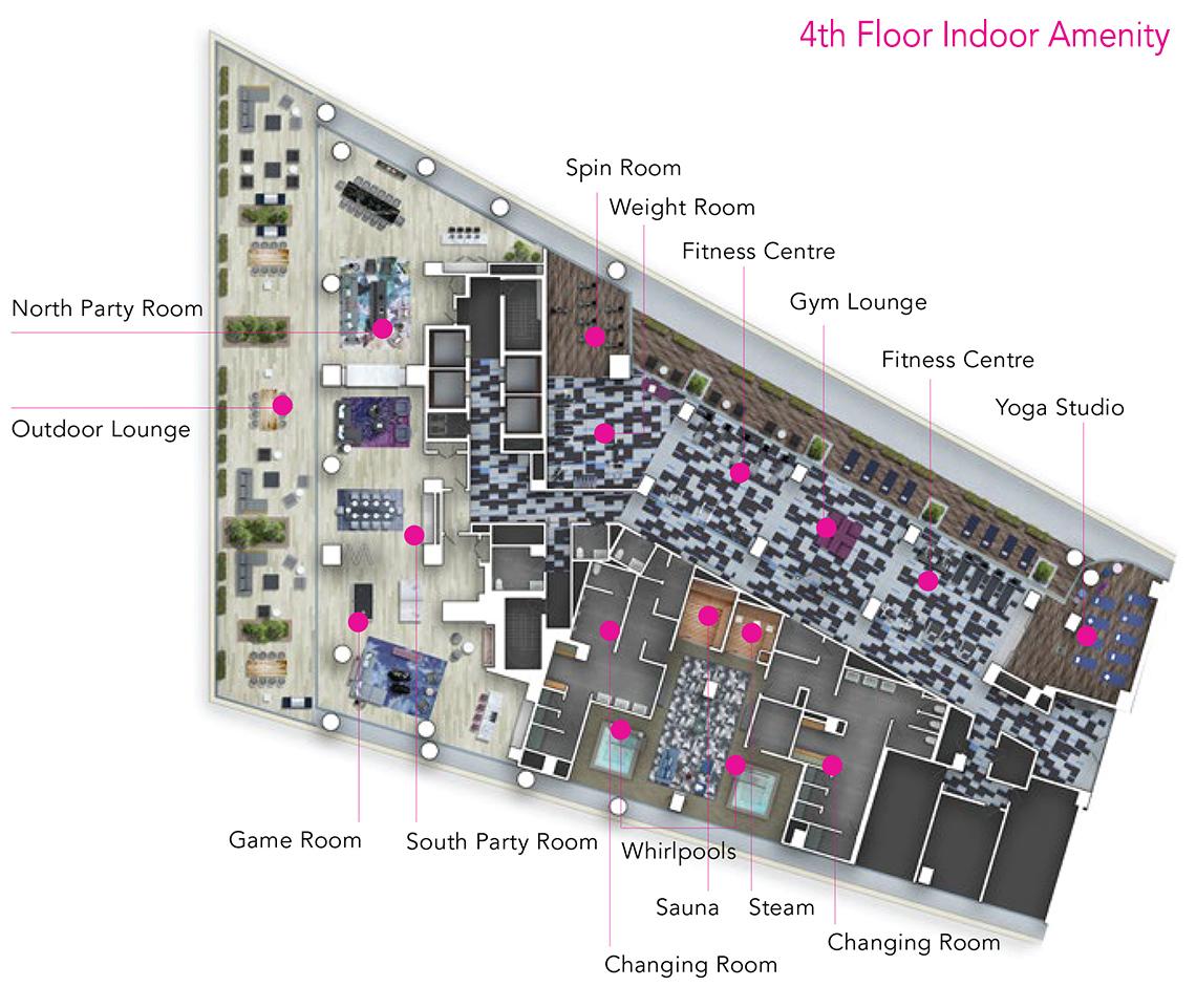 Via Bloor Amenities - 4th Floor