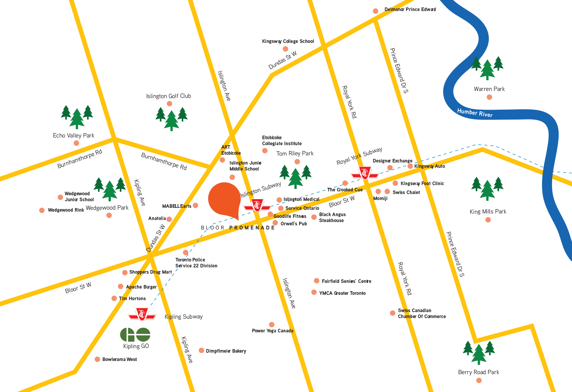 Bloor Promenade Neighbourhood Map