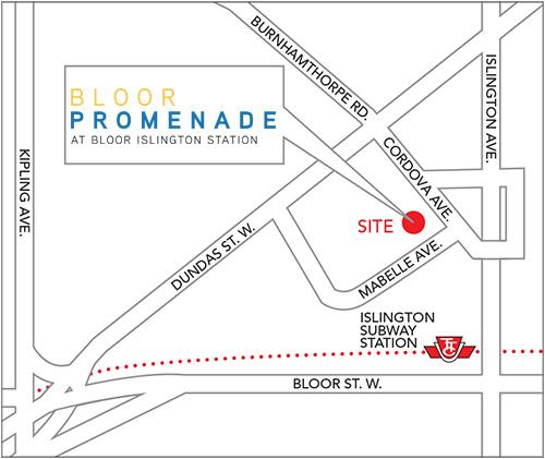 Bloor Promenade Map