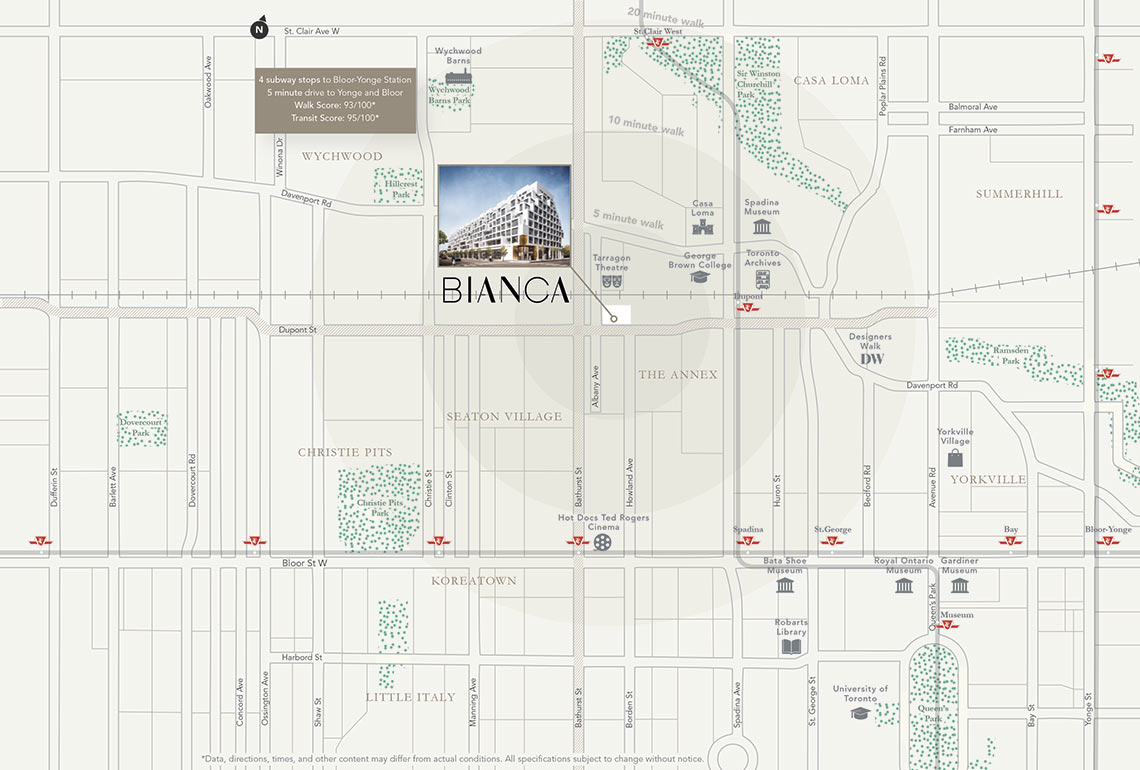 Bianca Neighbourhood Map