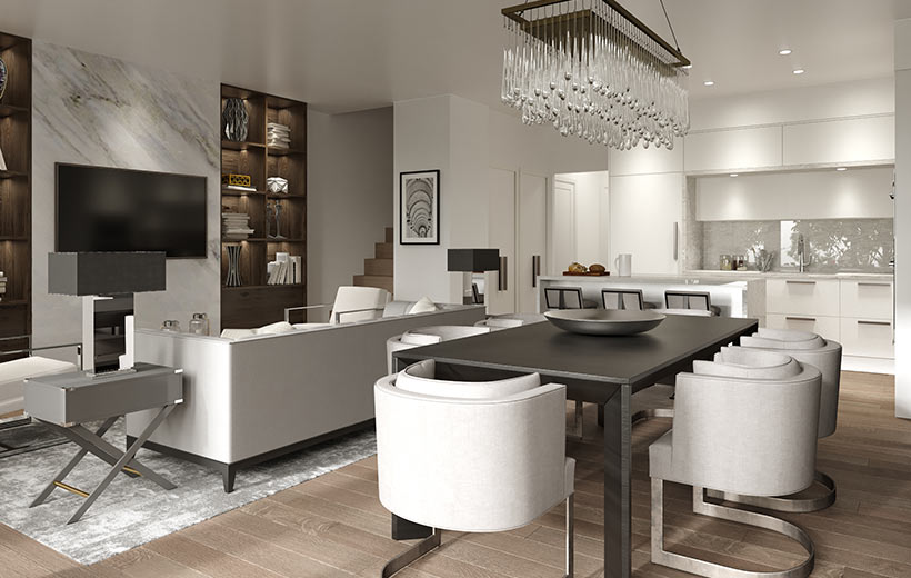 Auberge Kitchen Rendering