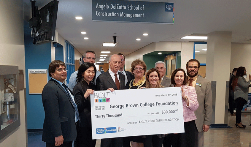BOLT Presents Cheque To George Brown College