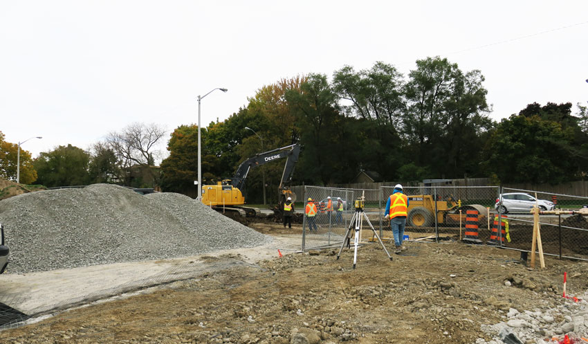 Scala;s future road connects to Leslie Street