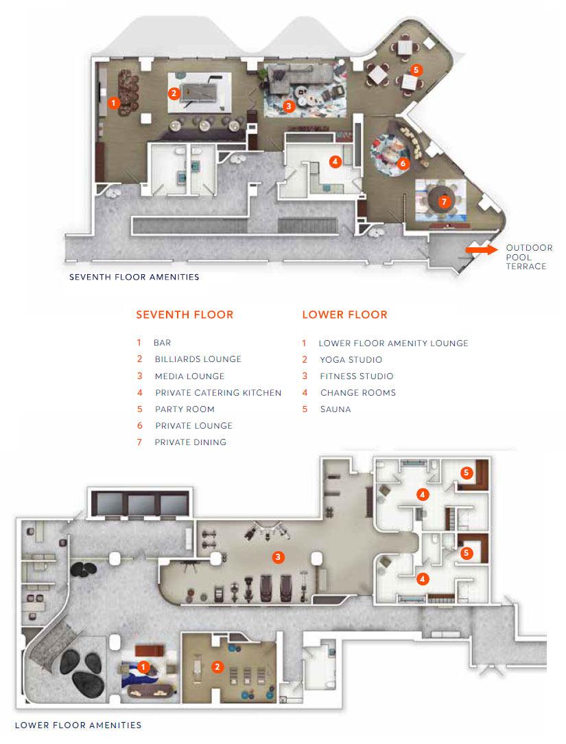 Aqualuna 7th floor amenities