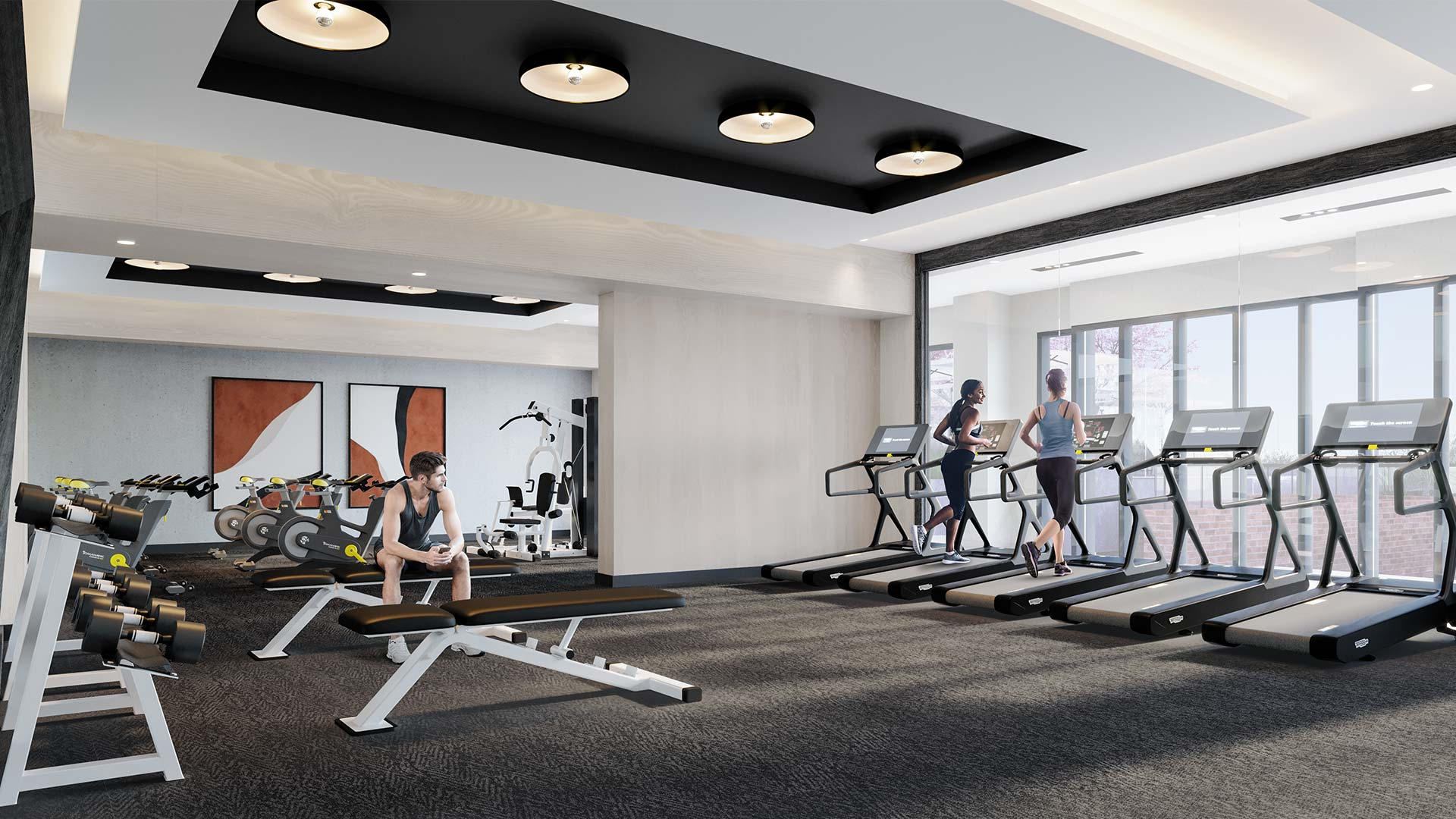 This Toronto condo features gym and yoga studio