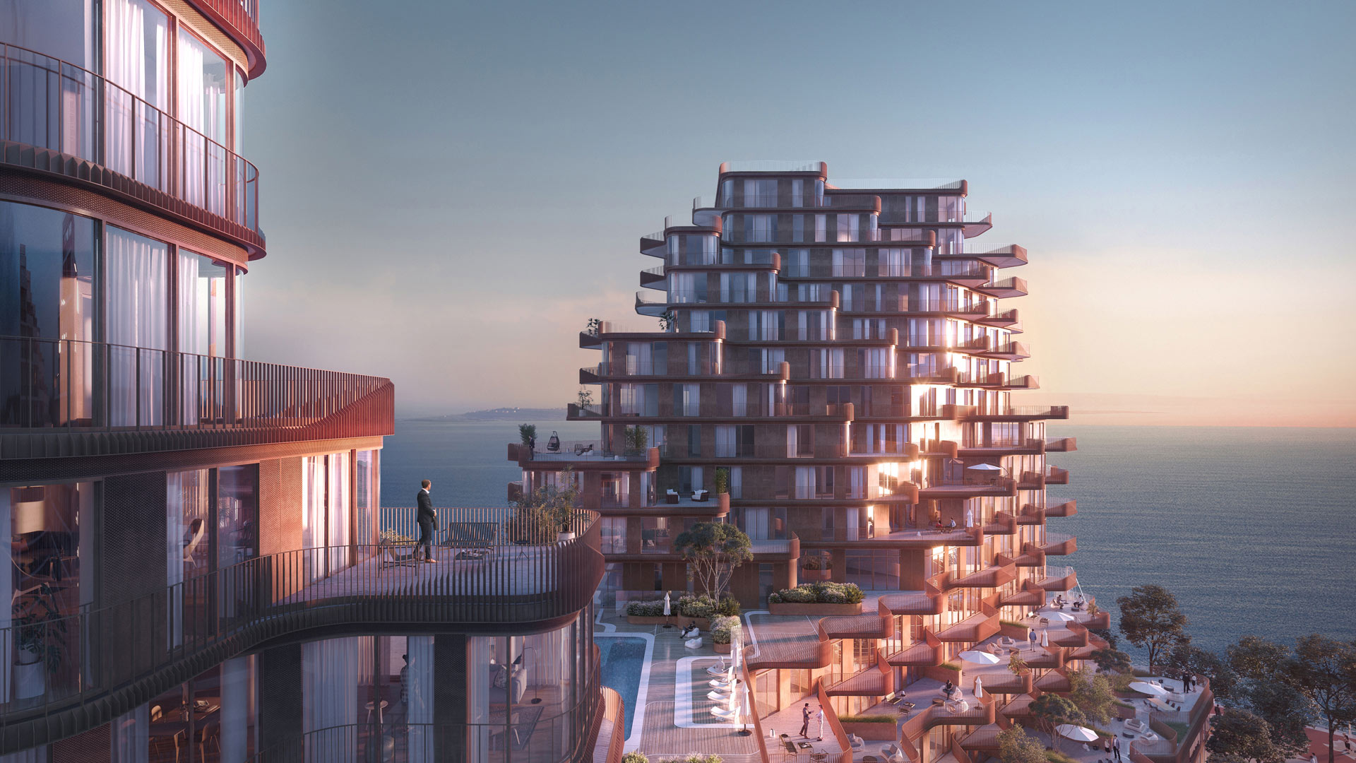 qualuna features balconies, terraces, opulent design, and first-class amenities