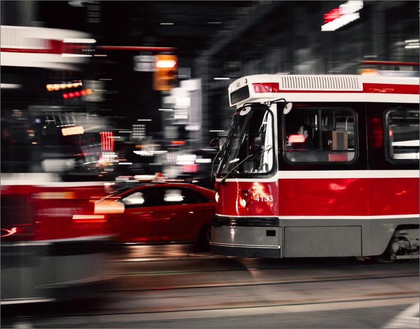Public transportation (TTC) connecting Etobicoke to the city of Toronto