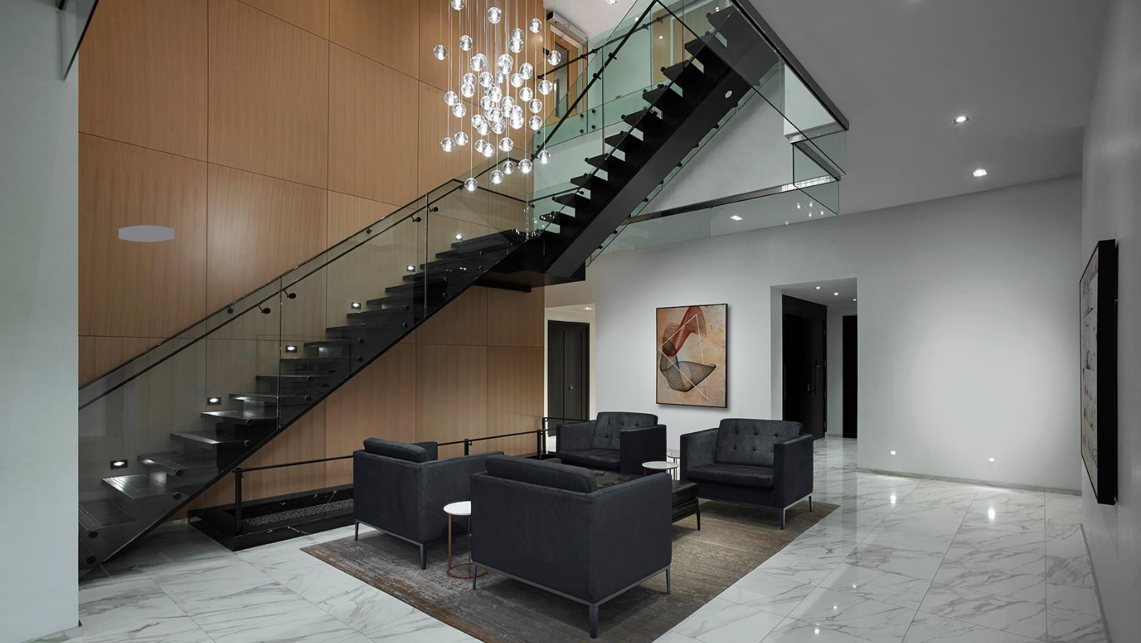 luxury lobby at condo in Toronto