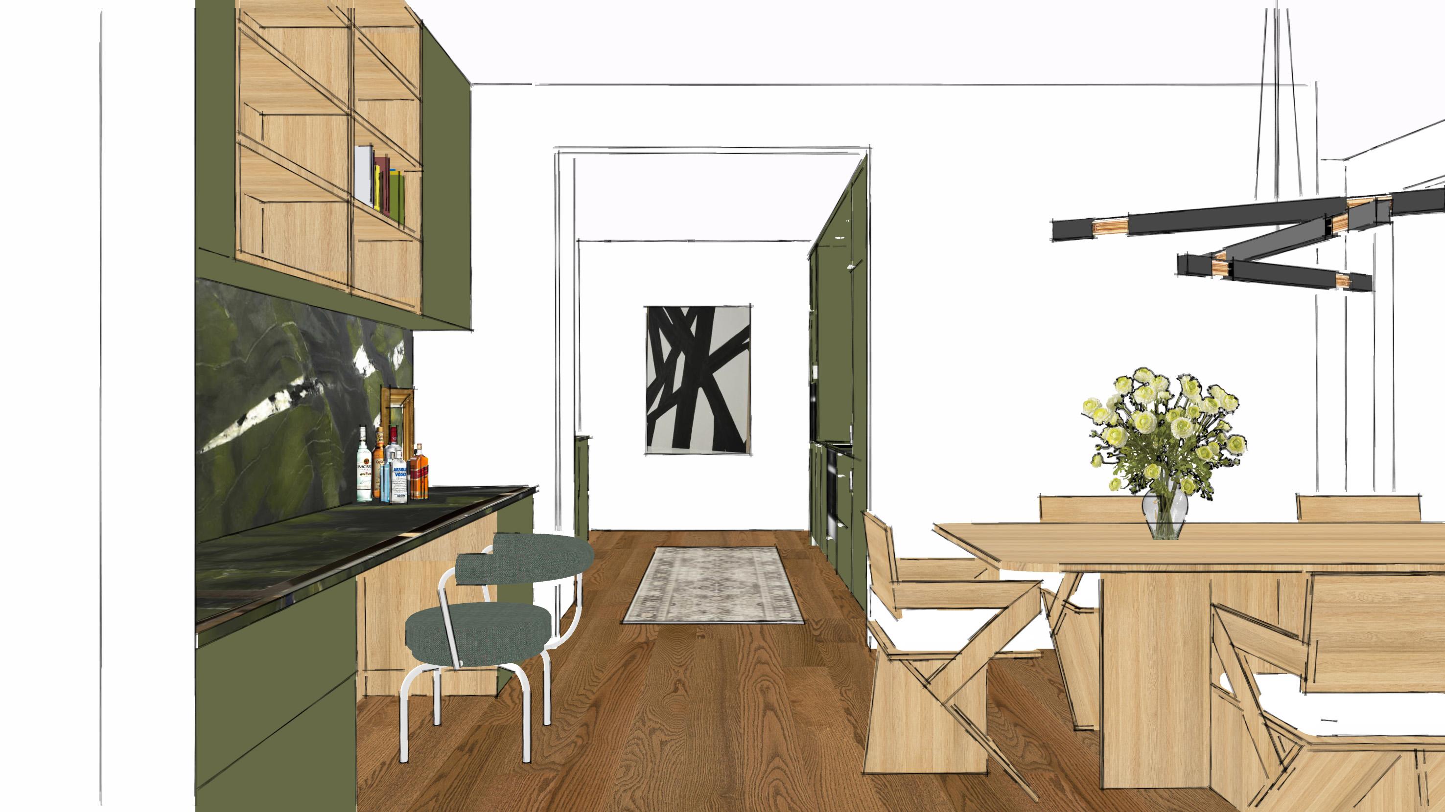 close concept kitchen in condo downtown Toronto
